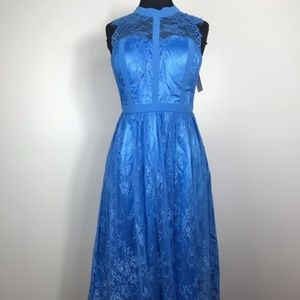 NWT ModCloth Liza Luxe Midi Dress Blue